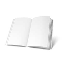 Opened white book template vector