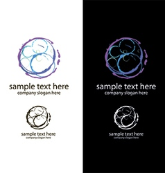logo bubbles handmade vector image