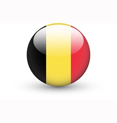 Round icon with national flag of belgium vector