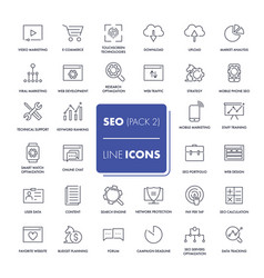 Line icons set seo vector