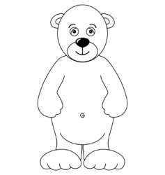 Teddy bear isolated contours vector