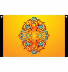 tribal swirl decoration vector image
