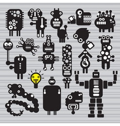 robot characters vector image