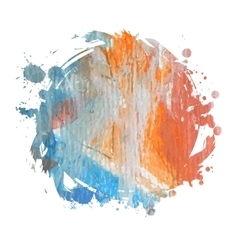 Bright colorful watercolor stain vector