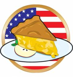 Apple pie american flag vector