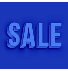 Volumetric white Sale lettering vector image