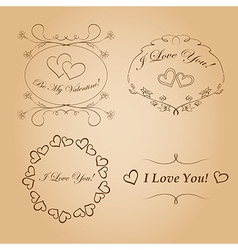 Romantic frames for valentines day vector