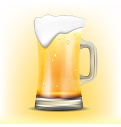 Isolated mug of beer vector