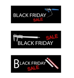 Craft tools on black friday sale banners vector
