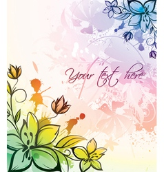 watercolor floral vector image