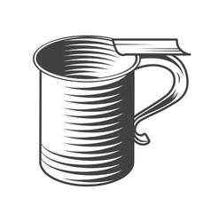 Shaving mug vector image