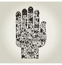 Hand art vector