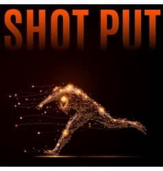 Shot put athlete vector