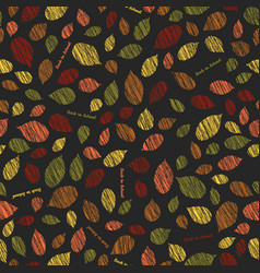 Back to school scraped leaves seamless pattern vector