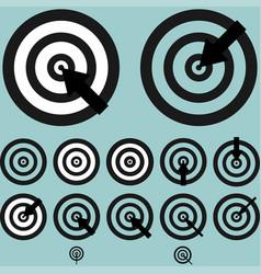 Black targets with arrow vector