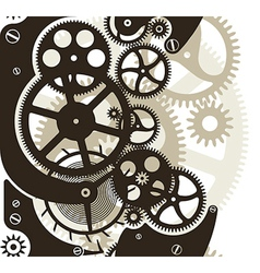 Cog wheels seamless vector image