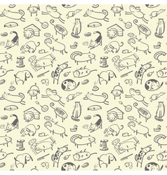 Cute doodle seamless vector image