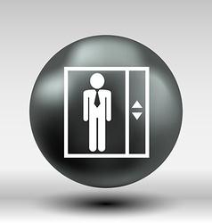 elevator icon button logo symbol concept vector image