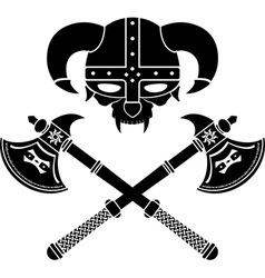 fantasy viking helmet second variant vector image