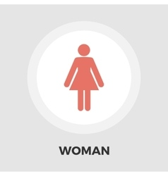 Female gender flat icon vector
