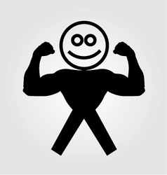 Figure with muscles showing muscle strength vector image