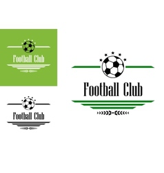 Football or soccer club symbol vector