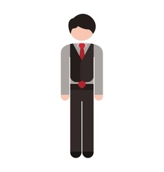 Full body man formal suit tie vector