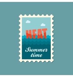 Heat flat stamp summertime vector