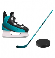 hockey equipment vector image vector image