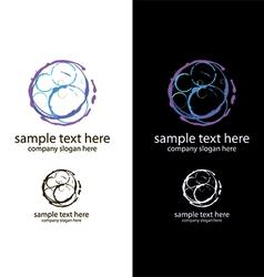 logo bubbles handmade vector image vector image