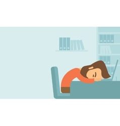 Man fall asleep vector