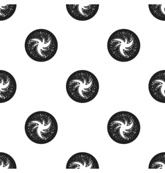 Milky way icon in black style isolated on white vector