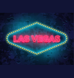 neon las vegas sign vector image