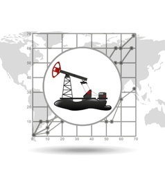 oil well industry growth diagram background vector image