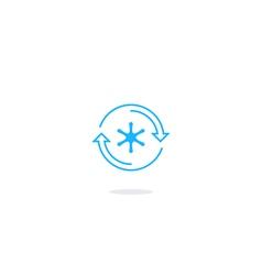 Refrigerator icon temperature control logo vector