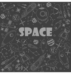 Space line art design vector