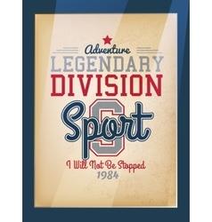 Sport varsity poster vector