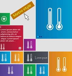 thermometer temperature icon sign buttons Modern vector image