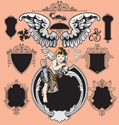 Victorian elements vector vector image vector image
