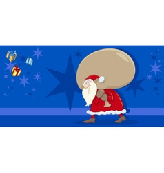 Santa claus greeting card vector
