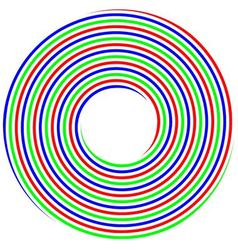 RGB spiral concept photo shoot vector image