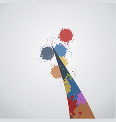Color art paint vector