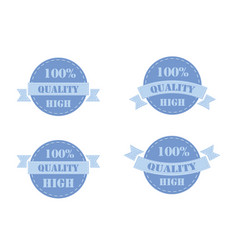 Blue labels high quality vector