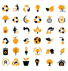 Eco friendly icons vector