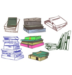 Book sketch vector