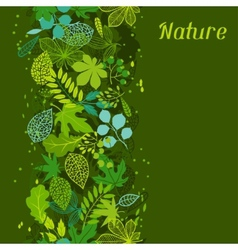 Pattern with stylized green leaves vector image