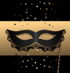 Black mask with lace vector