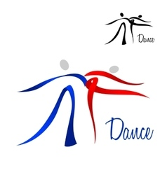 Flowing stylized dancing couple icon vector