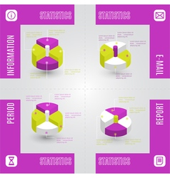 Colorful infographic statistic elements vector image