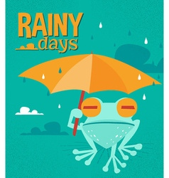 Rainy days cartoon vector